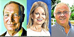 CANCELLED?  Pete Sysak, Eve Dobler-Drew, and Chris Arend have faced scrutiny for public-facing opinions published on the web. - ILLUSTRATIONS BY ALEX ZUNIGA