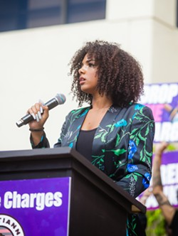 BARRED Tianna Arata's legal counsel filed a motion to ask the SLO County District Attorney's office to be disqualified from prosecuting Arata due to the district's attorney's alleged political bias. - FILE PHOTO BY JAYSON MELLOM