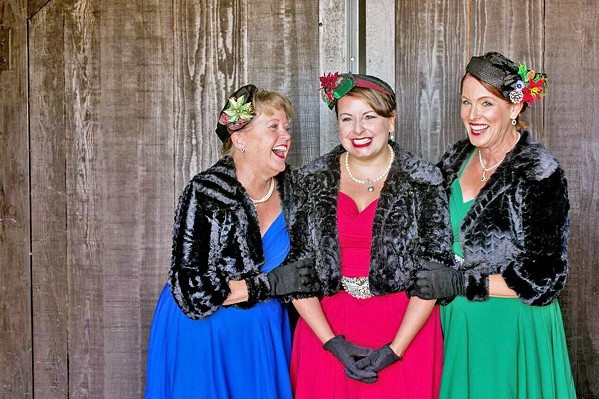 HOLIDAY SPICE Though they can't sing in person this year, The Jingle Belles a cappella trio is available for jingle grams in 15- and 30-minute slots. - PHOTO COURTESY OF THE JINGLE BELLES