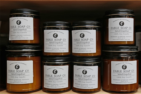 AMAZING SCENTS You can find locally made candles, soaps, lotions, shampoos, hand sanitizers, and more at the Fable Soap Co. in Los Osos. - FILE PHOTO BY DYLAN HONEA-BAUMANN