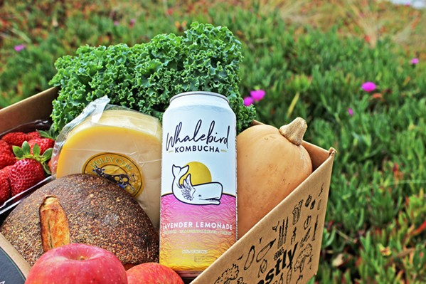 ALL LOCAL You can order anything from Whalebird Kombucha to Central Coast Creamery cheese to Pepper Family Farms produce every week from Harvestly. - PHOTO COURTESY OF HARVESTLY