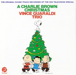 VINCE GUARALDI This soundtrack to the Peanuts' Christmas special will conjure up scenes of the gang ice skating on a frozen pond or putting on a play, in A Charlie Brown Christmas. - IMAGE COURTESY OF FANTASY RECORDS