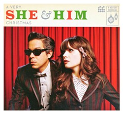 SHE & HIM Featuring Zooey Deschanel and M. Ward, A Very She & Him Christmas plays it straight and sweet on a bunch of classic and pop Christmas nuggets, creating an easy-to-listen-to record that never feels stale. - PHOTO COURTESY OF MERGE RECORDS
