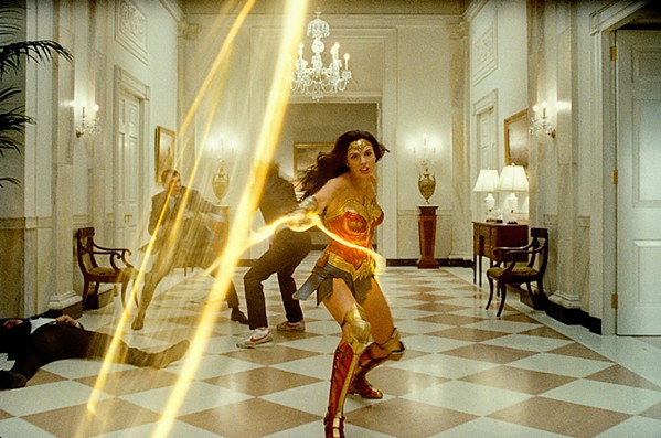 GOLDEN LARIAT Diana Prince (Gal Gadot) dons her alter ego, Wonder Woman, to fight a power-mad villain in the so-so sequel Wonder Woman 1984, currently streaming on HBO Max. - PHOTO COURTESY OF ATLAS ENTERTAINMENT AND DC COMICS
