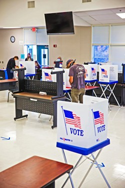 DEMOCRATIC DUTY Despite the pandemic, voters broke the SLO County turnout record in the Nov. 3 election. - FILE PHOTO BY JAYSON MELLOM