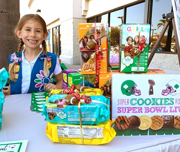 COOKIE COURIER Due to COVID-19 safety concerns, local Girl Scouts like 7-year-old Kaelyn won't be able to sell cookies in person. Instead, they're leaning on online sales. - PHOTO COURTESY OF RIANA BANKS