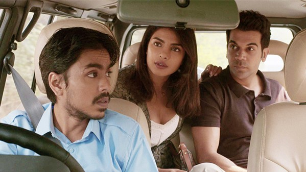 TRASHMAN Chauffer Balram Halwai (Adarsh Gourav, left) discovers just how expendable he is to his employers, Pinky (Priyanka Chopra-Jonas) and Ashok (Rajkumar Rao), in The White Tiger, a look at India's caste system, screening on Netflix. - PHOTO COURTESY OF ARRAY FILMWORKS