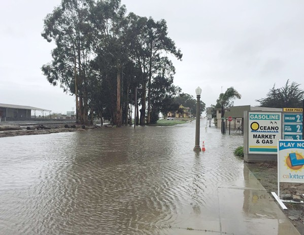 BEFORE This image from Feb. 17, 2017, shows what flooding was like in Oceano before the recent completion of the Oceano Drainage Improvement Project. - PHOTO COURTESY OF GENARO DIAZ