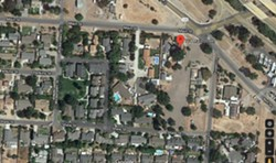 THE SITE Some Los Alamos community members are concerned that a proposed subdivision at 774 Main Street could lead to traffic issues on Shaw Street, a private and narrow road. - SCREENSHOT FROM GOOGLE MAPS