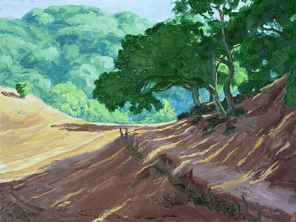 SANTA RITA RANCH, MAGICAL TRAIL This oil painting by Laurel Sherrie already sold from the virtual exhibition SLOPE Paints the Serene Magic of Santa Rita Ranch, which can be viewed on San Luis Outdoor Painters for the Environment's website, slope-painters.com. A portion of the proceeds benefits Santa Rita Ranch. - COURTESY IMAGE BY LAUREL SHERRIE