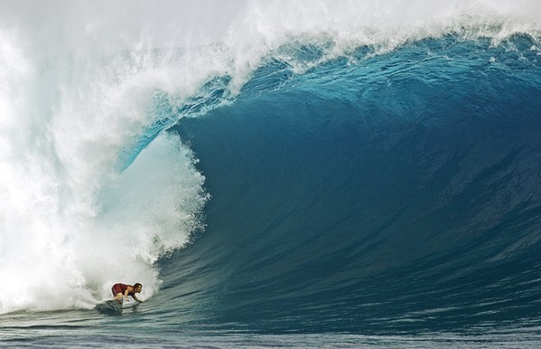 TAKE TWO The much anticipated big-wave film White Rhino, which was scheduled to screen at last year's canceled Surf Nite, screens on March 10 at the Sunset Drive-In, the only in-person event of this year's otherwise virtual film fest. - PHOTO COURTESY OF BRENT STORM