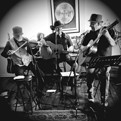 KEYED UP Singer-songwriters Steve Key, John Nowel, and Ken McMeans will trade off songs on March 6 at Sculpterra Winery. - PHOTO COURTESY OF BONNIE NELSON-KEY