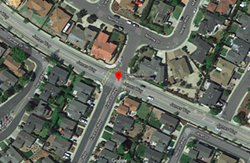 STOP Stop signs are going in on James Way in Pismo Beach where the road intersects with Frances Way. - SCREENSHOT FROM GOOGLE MAPS