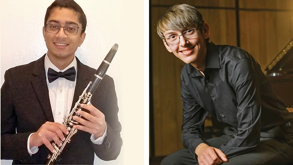 VIRTUAL Clarinetist Kiran Manikonda and pianist Grant Smith are this year's featured soloists at the Cal Poly Symphony's March 12 virtual concert. - PHOTO COURTESY OF CAL POLY SLO