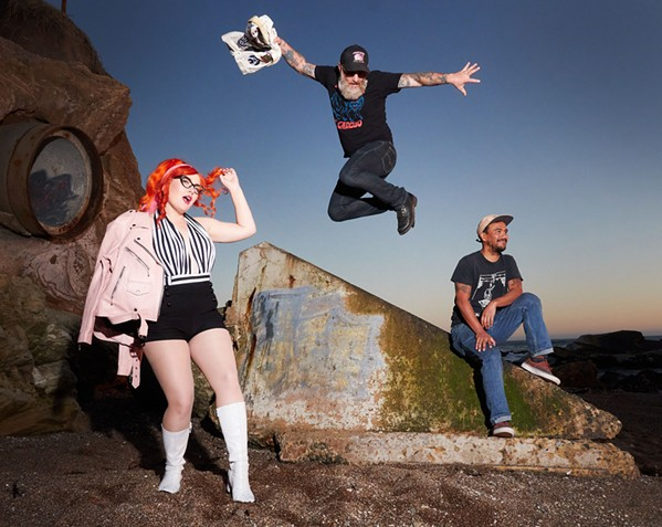 SIGNED Local pop punk act Hayley and The Crushers just signed to Kitten Robot Records and are recording their third full-length record. - PHOTO COURTESY OF THOMAS IGNATIUS