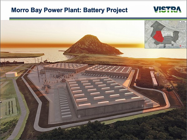 POWER PROJECT Texas-based energy company Vistra is making its case for a 22-acre, 600-megawatt battery plant project in the City of Morro Bay. - IMAGE COURTESY OF THE CITY OF MORRO BAY