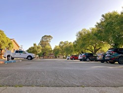 WAITING FOR DEMAND Three weeks after opening, a new safe parking program for homeless residents in SLO—designed after success with a pilot program at the SLO Veteran's Hall (pictured)—is seeing little use. - FILE PHOTO BY KASEY BUBNASH