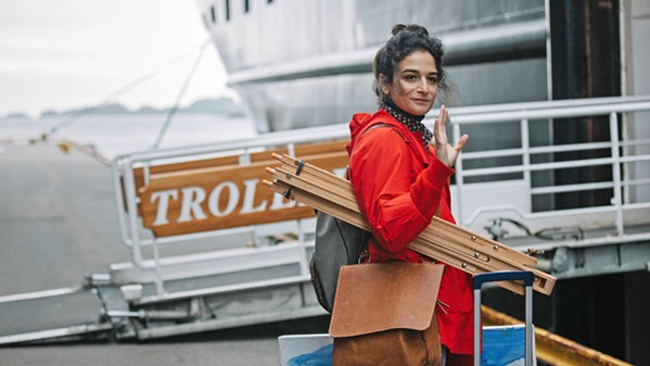 ON AN ADVENTURE A struggling New York artist, Frances (Jenny Slate), takes an apprenticeship with a famous Norwegian artist to create a barn installation, along the way meeting a cast of odd characters, in The Sunlit Night, screening on Hulu. - PHOTO COURTESY OF BEACHSIDE FILMS