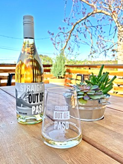 BLENDED Straight Out Of Paso's first white blend includes roussanne, marsanne, and clairette blanche from Paper Street and Law Estate vineyards. - PHOTOS COURTESY OF BRITTA ROBERTS