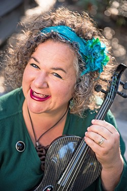 CAMBRIAN QUEEN Virtuosic violinist Brynn Albanese plays a special streamed fundraising show for the Cambria Center for the Arts on May 16.n Albanese plays a special streamed fundraising show for the Cambria Center for the Arts on May 16. - PHOTO COURTESY OF BRYNN ALBANESE