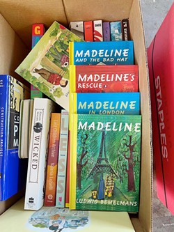 BOOKS GALORE The Monday Club received 1,000 book donations on May 10 as part of its new Equity and Access to Literacy program. These books will be delivered to local students via the Food Bank. - PHOTO COURTESY OF JANICE CROOKS