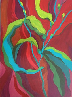SWEET DREAMS ARE MADE OF THIS A diverse collection of Denise Gimbel's abstract nature paintings will be on display at her upcoming exhibit at the Santa Maria Airport, including Welcome (pictured) and other pieces from her Giant Kelp Dreams series. - COURTESY IMAGES BY DENISE GIMBEL