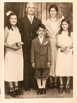 HIS STORY Bruce Badrigian's Armenian family (from left to right), his Aunt Mary, Kachadoor (grandfather), Simon (father), Isgouhi (grandmother), and Aunt Elizabeth. - PHOTO COURTESY OF BRUCE BADRIGIAN