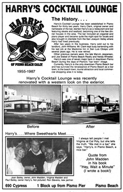 THE LAST MAKEOVER Harry's Night Club and Beach Bar is in the midst of a major upgrade, for the first time since former owners Paul and Joan Bailey outfitted the building's exterior with Western-style siding and roofing in the '80s. - PHOTOS COURTESY OF EFFIE MCDERMOTT