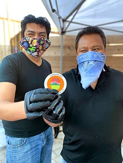 CORAZON Made with heart and passion, Corazon 805 founders Pedro Arias Lopez (left) and Crescencio Hernandez Villar (right) said that pop-up partnerships helped spread the word about their tacos. - PHOTO COURTESY OF CORAZON 805