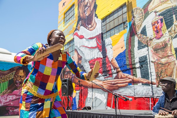 MURALS MATTER Director Spencer Wilkinson's Alice Street, a documentary about the creation of a four-story mural in downtown Oakland and the threats against it, will be screened on June 18, as part of a fundraiser for the Equality Mural Project, which aims to add 10 equality-promoting murals to Atascadero buildings. - PHOTO COURTESY OF AYSE GURSOZ