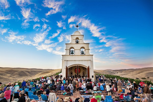 STUNNING SPACES AND SOUNDS Festival Mozaic concerts happen throughout the county, including stunning venues such as Shandon's Serra Chapel, which this year hosts Baroque in the Vines on July 24. - PHOTO COURTESY OF FESTIVAL MOZAIC