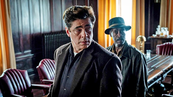 TRUST ISSUES Career criminals Ronald Russo (Benicio Del Toro, left) and Curt Goynes (Don Cheadle) are teamed to pull off a heist in No Sudden Move. - PHOTO COURTESY OF HBO MAX AND WARNER BROS.