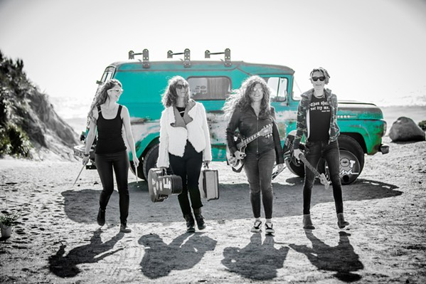 TAKE NO PRISONERS All-female rock band Hot Tina will knock you out of your socks on July 10 when they play Liquid Gravity. - PHOTO COURTESY OF HOT TINA