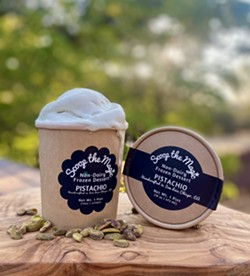GREEN INSIDE AND OUT Scoop the Magic is packaged in eco-friendly, compostable kraft paper cups. - PHOTO COURTESY OF SCOOP THE MAGIC