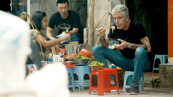 SOULMAN Renowned foodie and traveler Anthony Bourdain lived large and took fans along for a wild ride, and we hear from those closest to him about the man and the loss felt when he died, in Roadrunner: A Film About Anthony Bourdain. - PHOTO COURTESY OF CNNFILMS