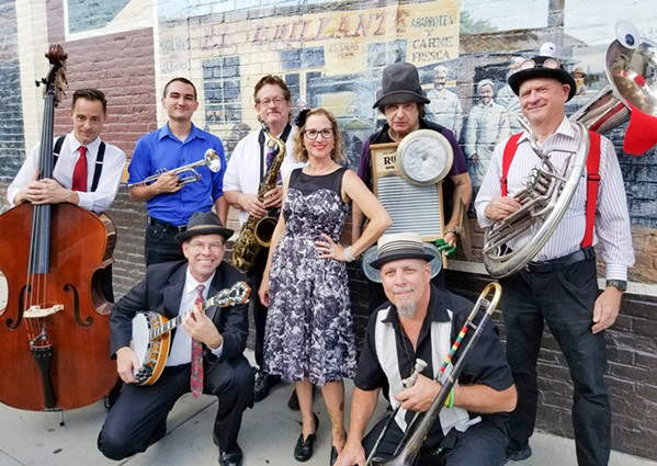 HOT JAZZ AND BLUES The Barrelhouse Wailers bring their Prohibition-era sounds to the Basin Street Regulars' next streaming concert on July 25. - PHOTO COURTESY OF THE BARRELHOUSE WAILERS