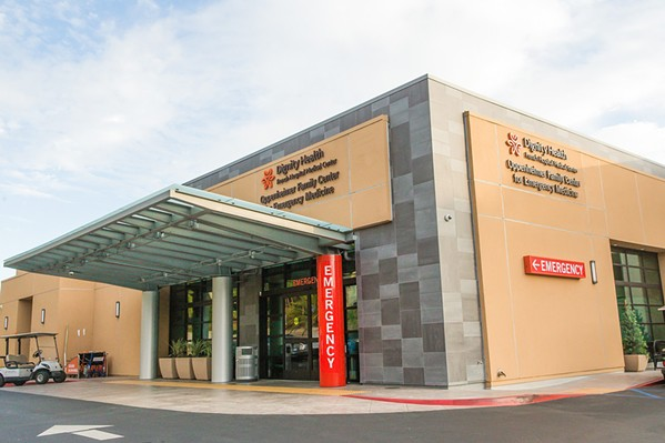 NOT COVERED As of July 16, Anthem Blue Cross stopped covering Dignity Health care facilities such as French Hospital Medical Center. Contract negotiations between the insurance company and health care system are ongoing. - FILE PHOTO BY JAYSON MELLOM