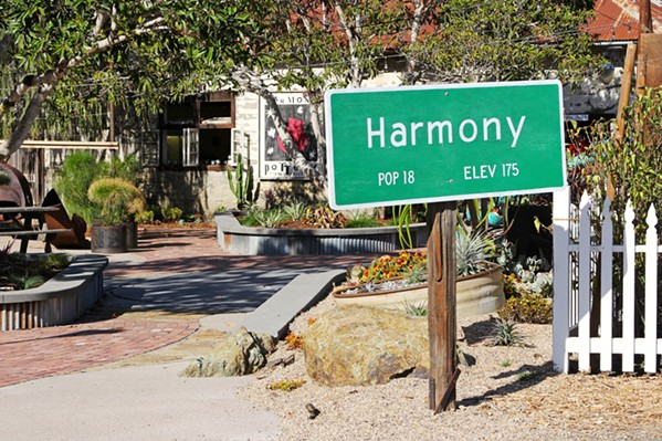 HEADED TO HARMONY? The one-block historic town, purchased by Alan and Rebecca Vander Horst in 2014, will host Table & Vine's Sept. 30 dinner event. The menu is being finalized. - PHOTO COURTESY OF TOWN OF HARMONY