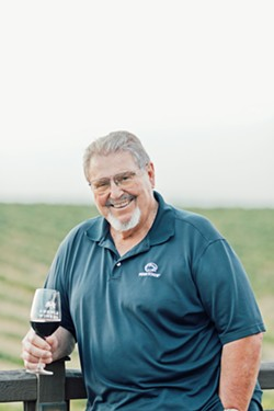 """AGED TO PERFECTION At 77, legendary winemaker Gary Eberle jokes that """"wine makes the best preservative."""" Hear the stories behind his pours at the Sensorio dinner experience in Paso Robles on Aug. 25. - PHOTO COURTESY OF EBERLE WINERY"""