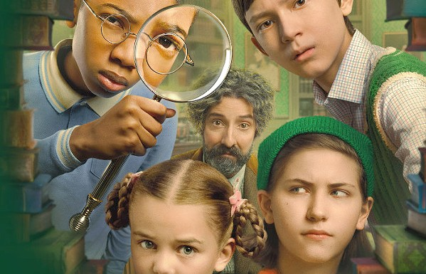TEAMWORK An eccentric genius (Tony Hale, center) assembles a team of children to go on a dangerous mission to save the world, in The Mysterious Benedict Society. - PHOTO COURTESY OF 20TH TELEVISION AND FAMILYSTYLE FILM