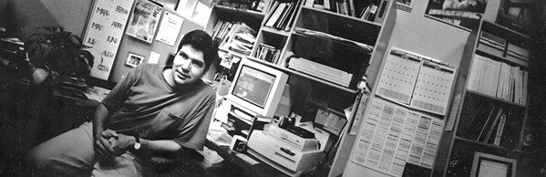 STARTING A CAREER Alex Zuniga (pictured), fresh out of Cal Poly, served as the original art director for New Times when it started in 1986. Today, he's the paper's co-owner and publisher. - FILE PHOTO COURTESY OF ALEX ZUNIGA