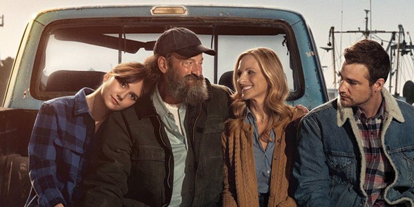 CHILD OF DEAF ADULTS (CODA) Ruby (Emilia Jones, left) is a gifted singer from an otherwise deaf family—(second from left to right) mom Jackie (Marlee Matlin), dad Frank (Troy Kotsur), and brother Leo (Daniel Durant)—who must decide whether to stay and be her family's hearing interpreter or have a life of her own, in Coda. - PHOTO COURTESY OF VENDOME PICTURES AND PATHÉ FILMS