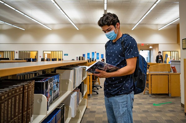 MASKS REQUIRED As Cuesta College and Cal Poly return to campus, everyone is required to mask up, regardless of vaccination status. - PHOTO COURTESY OF CUESTA COLLEGE