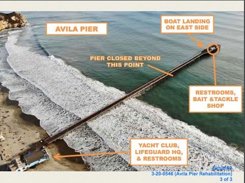 A MODERN MAKEOVER Rehabilitation will update the Avila Pier with a more accessible boardwalk for visitors with disability. - IMAGE COURTESY OF PORT SAN LUIS HARBOR DISTRICT