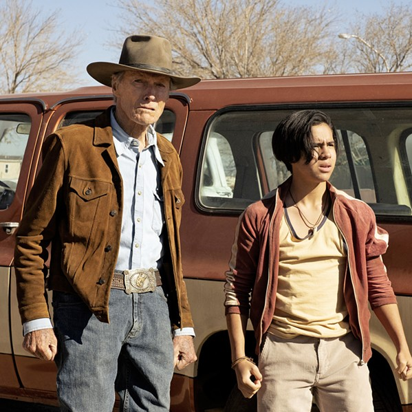 BE A MAN Former rodeo star and horse trainer Mike Milo (Clint Eastwood) agrees to retrieve Rafo (Eduardo Minett) from his alcoholic mother in Mexico and return him to his American father in the U.S., in Cry Macho, in local theaters and on HBO Max. - PHOTO COURTESY OF MALPASO PRODUCTIONS