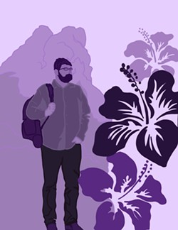 CREATIVE BRAIN Recording music is Chris Lambert's life-long passion. He's recorded more than a dozen albums since high school. Podcasting is a more recent pursuit for the 33-year-old Orcutt native. - ART COURTESY OF ALLI WALLACE