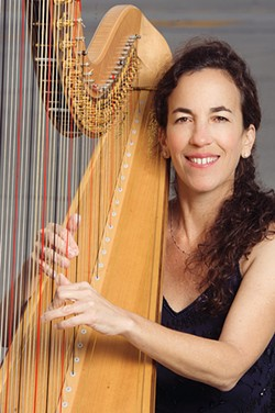 HAVE HARP, WILL TRAVEL Los Angles-based harpist Marcia Dickstein will join the SLO Symphony on Oct. 2, to play Gustav Mahler's Adagietto from Symphony No. 5 for strings and harp, at the SLOPAC. - PHOTO COURTESY OF MARCIA DICKSTEIN