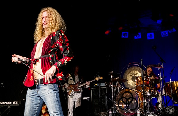 IS THAT YOU, ROBERT? On Oct. 14, premiere Led Zeppelin tribute act Led Zepagain plays the Clark Center. - PHOTO COURTESY OF LED ZEPAGAIN