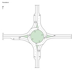 ROUNDABOUT REFORMS Local officials are proposing the installation of two new roundabouts to help alleviate traffic on Highway 227. - SCREEENSHOT COURTESY OF THE SLO COUNCIL OF GOVERNMENTS