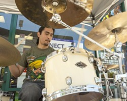 WHERE'S HIS SHELL? :  Drummer Diego Marquez performs under the alias of Roy Koopa. - PHOTO BY STEVE E. MILLER